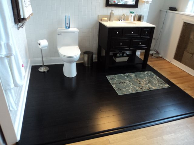 Ebonized Bamboo Floors By Lowes Amazing Bathrooms Bamboo Flooring Home Fix