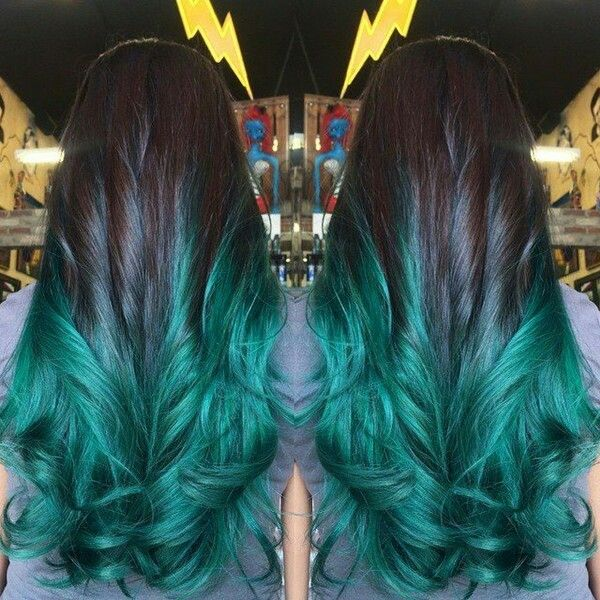 Pin By Rachel Mary On Hair Styles And Nails Blue Ombre