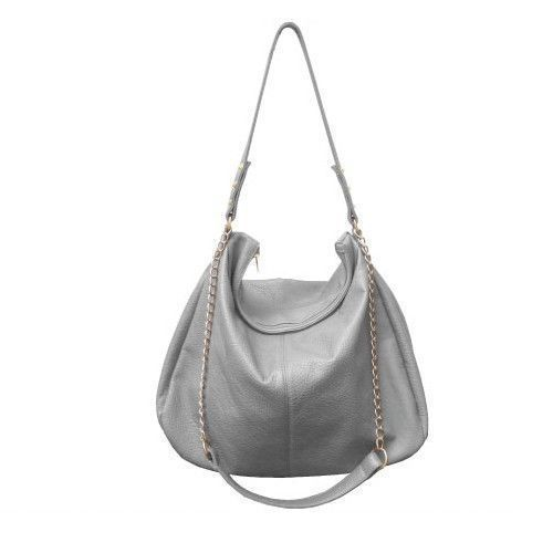 cfdad3d7d1 RAMPAGE Gray Ladies Faux Leather Tote Bag W  Gold Chain Strap Handbag.This a