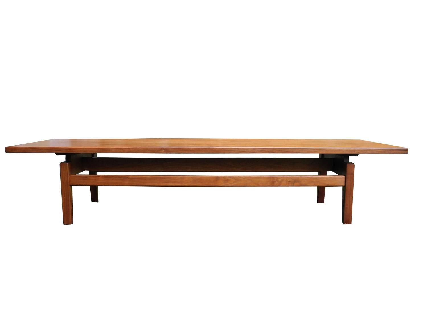 Mid Century Modern Solid Walnut Low Coffee Table Or Long Bench By Jens Risom 2 Low Coffee Table Coffee And Cocktail Tables Walnut Coffee Table [ 1125 x 1500 Pixel ]