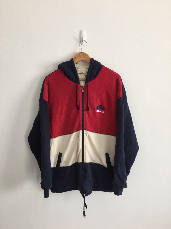 Rare!! Vintage Ellesse Windbreaker/Jacket/zipper/Hoodie/Sweater Nice Colour Small Size hJ1RYuuyP