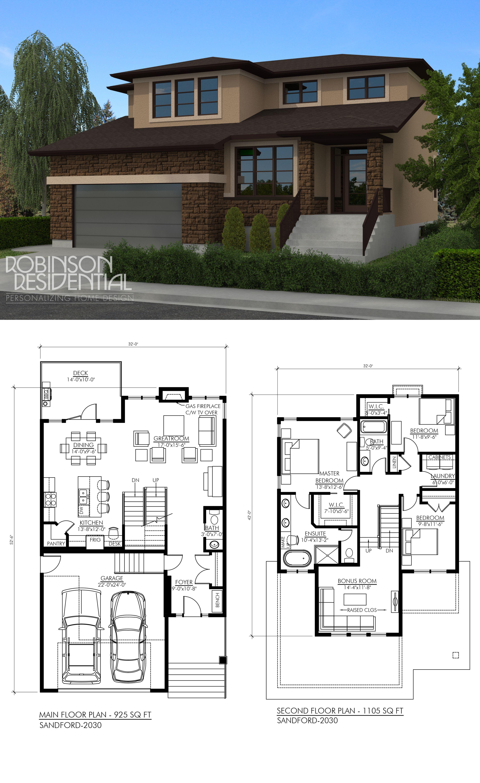 Contemporary Sandford 2030 Robinson Plans Modern House Plans House Blueprints House Plans