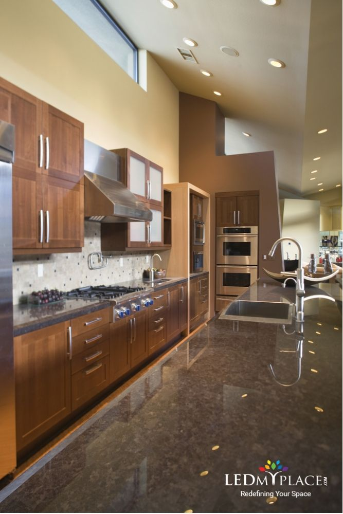A Modern Residential Kitchen With Led Light An Energy