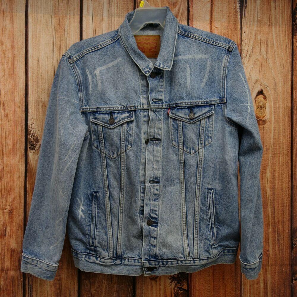 4e035ebd6f New Levis Mens 72334 Light Blue Wash Denim Classic Trucker Jean Jacket Size  XL  Levis