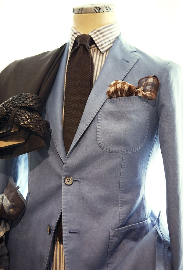 brown and pale blue. menswear s/s 2013