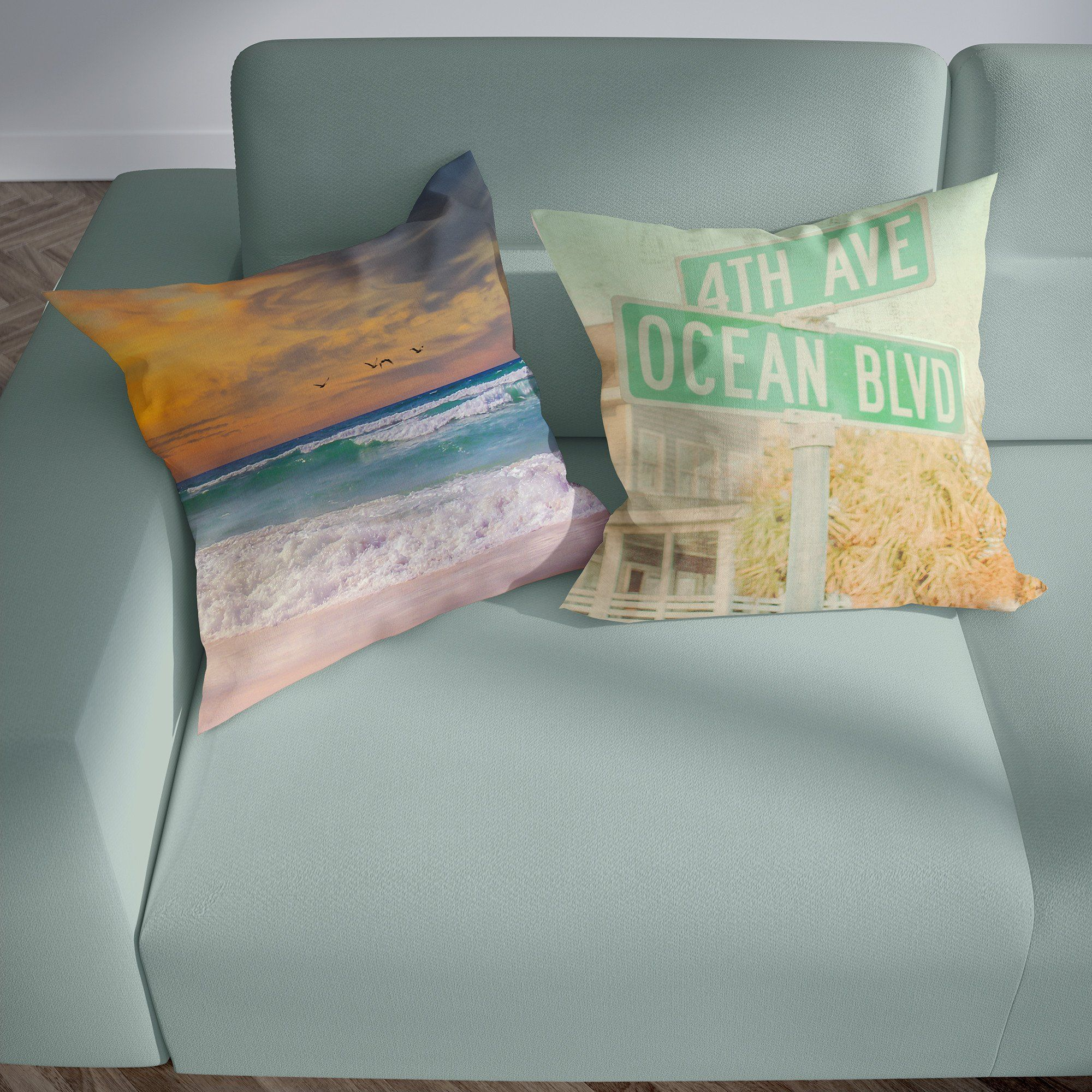 Navarre Beach Sunset Pillow With Images