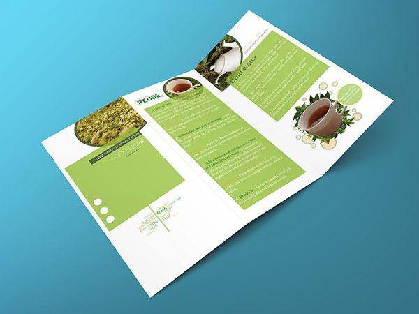 Green tea - Brochure design and poster on Behance | Design folio ...