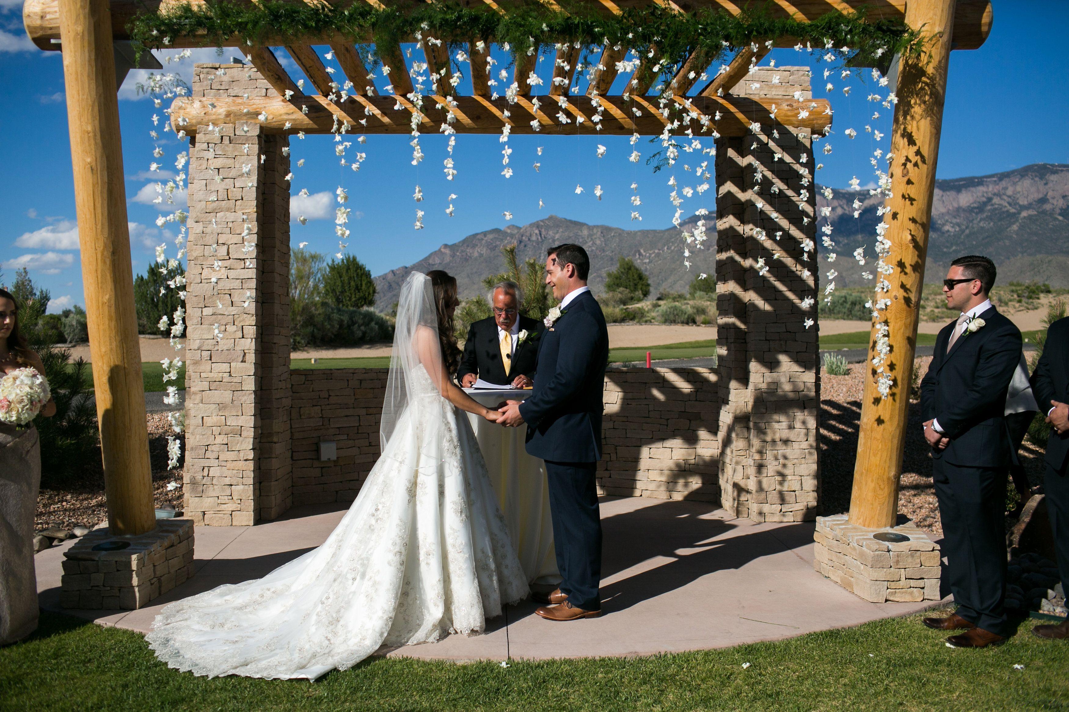 Outdoor Wedding Ceremony Held In Albuquerque Nm At The Event Center Sandia Golf Club