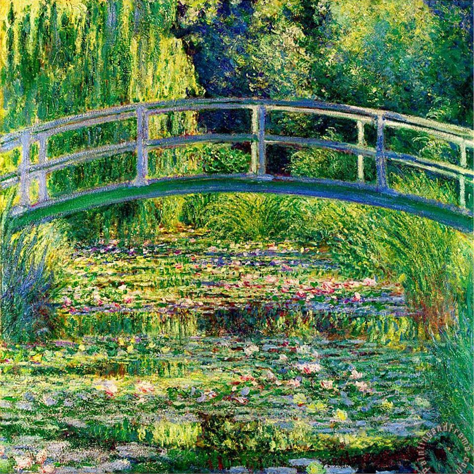 The Waterlily Pond With The Japanese Bridge Painting By Claude
