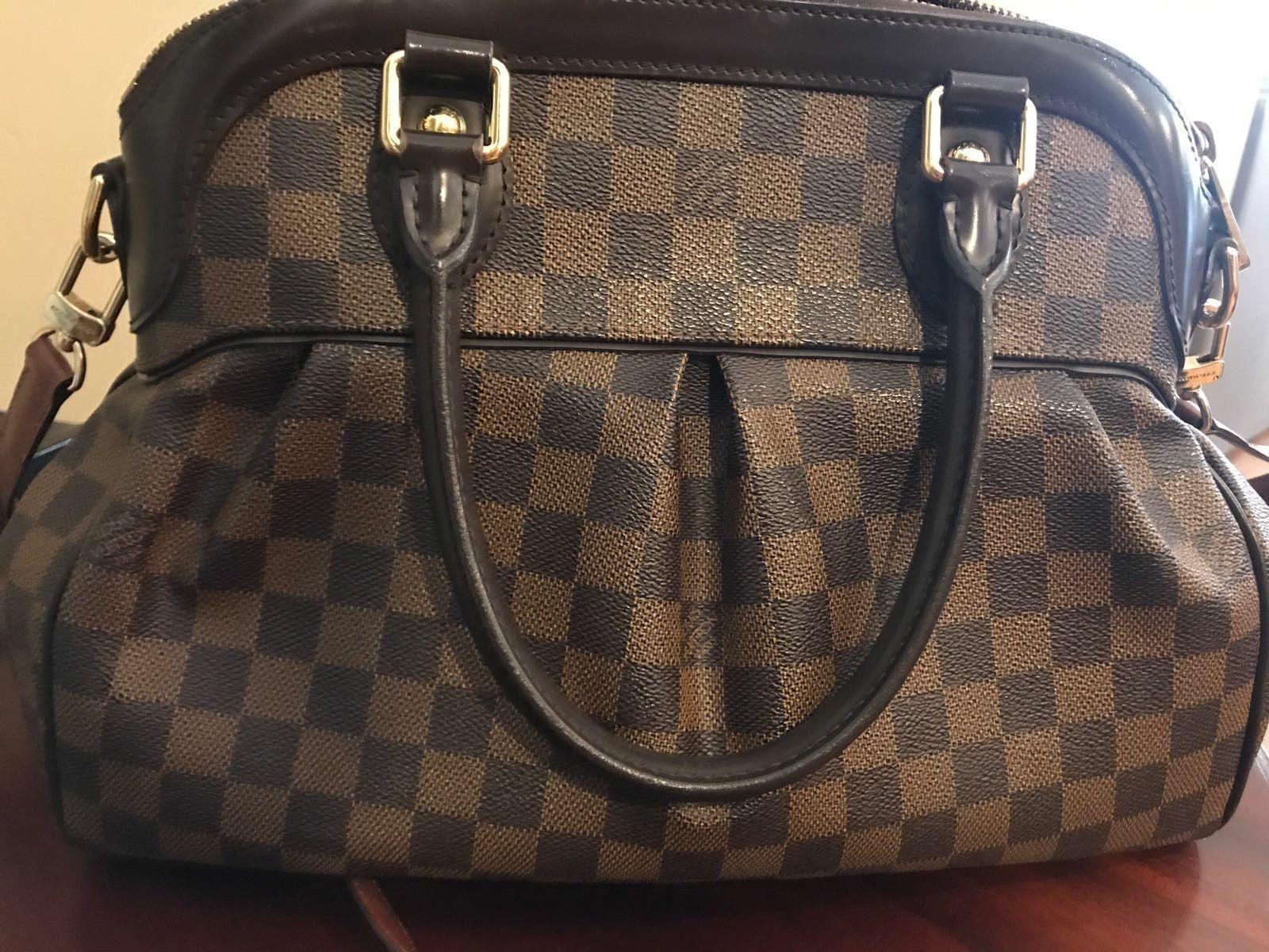 AUTHENTIC LOUIS VUITTON DAMIER EBENE TREVI PM SHOULDER BAG USED  1199.0 bda81847eae4b
