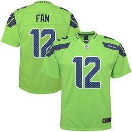 huge selection of 48301 7f785 Youth Seattle Seahawks 12s Nike Green Color Rush Game Jersey ...