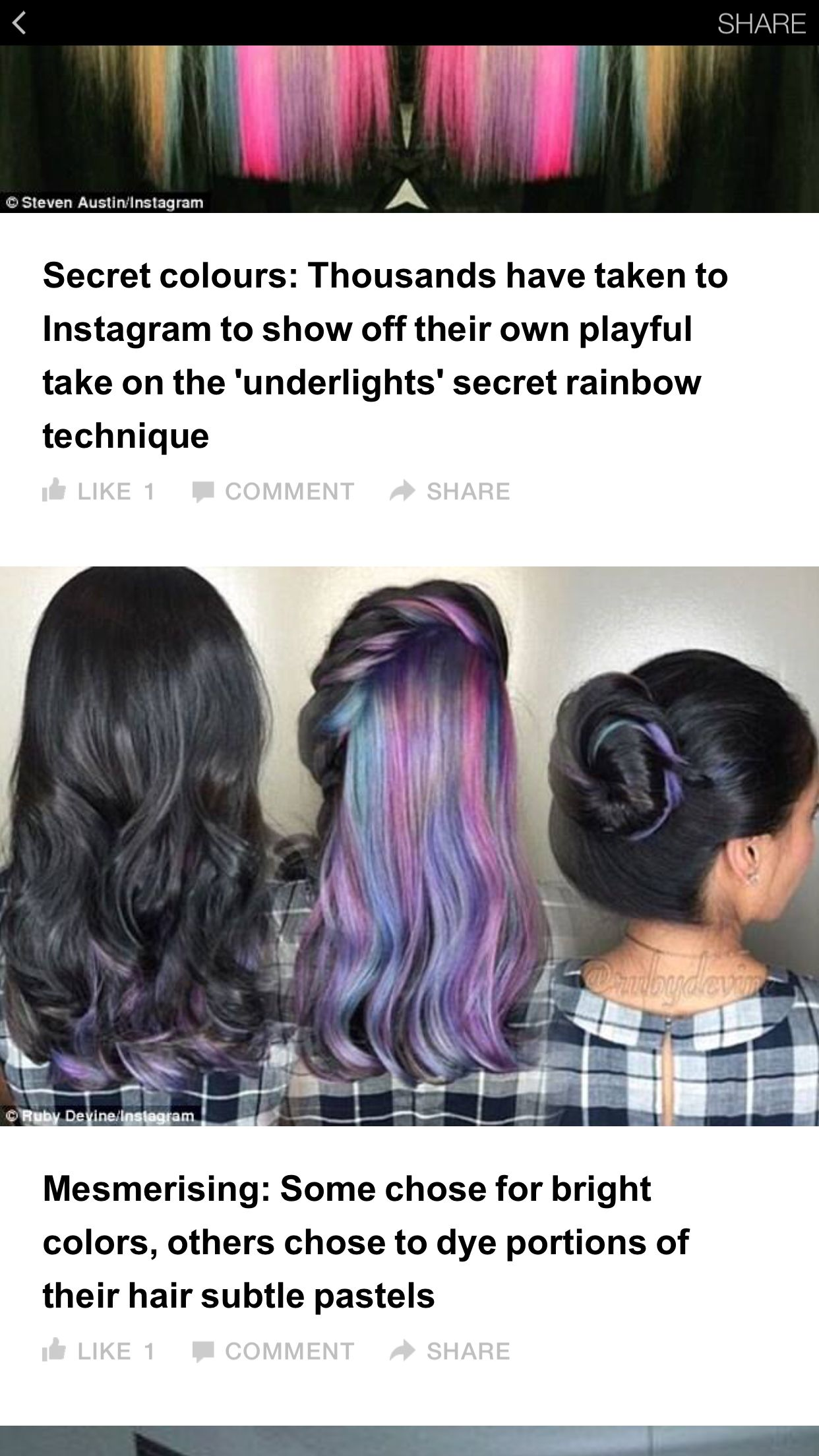 Color is in the middle portion not just underneath subtle but