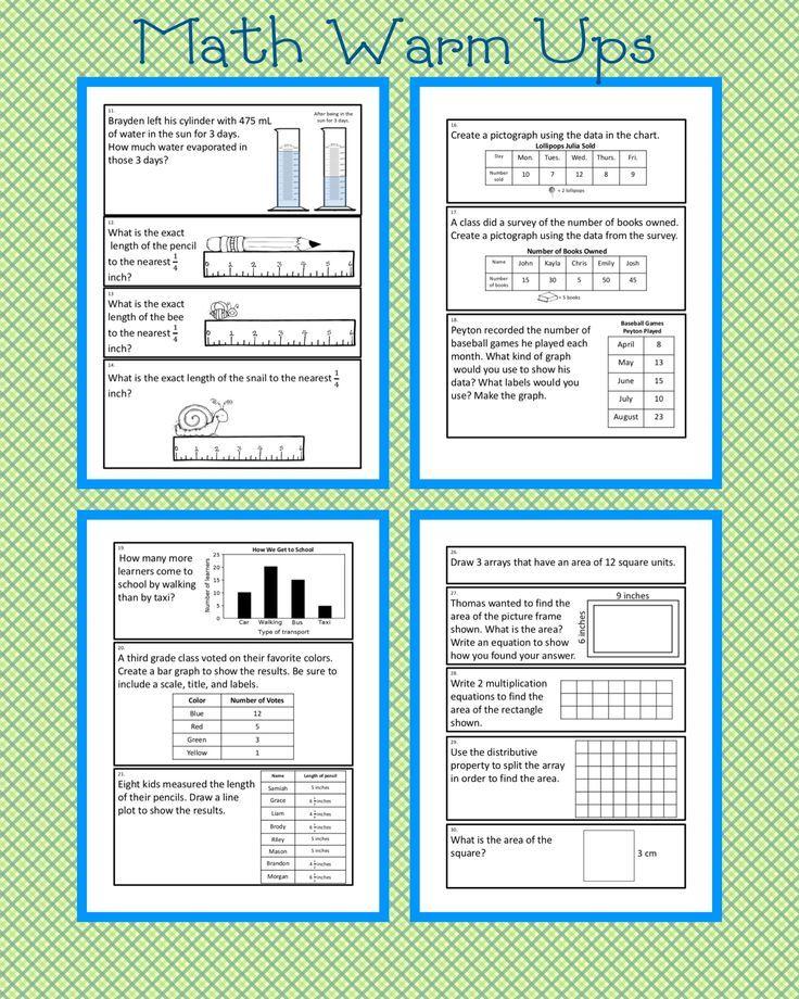 Measurement and Data: Problem Solving Journal Prompts | Pinterest ...