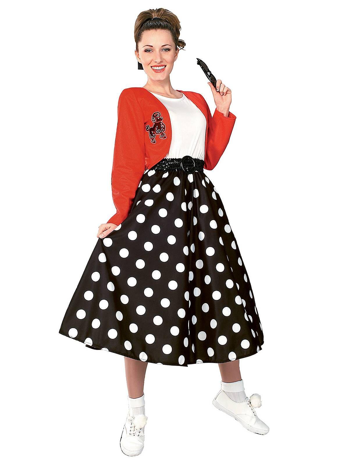 Polka Dot Rocker Costume | Womens 50s Halloween Costumes  sc 1 st  Pinterest & Polka Dot Rocker Adult Costume | Pinterest | 50s halloween costumes ...