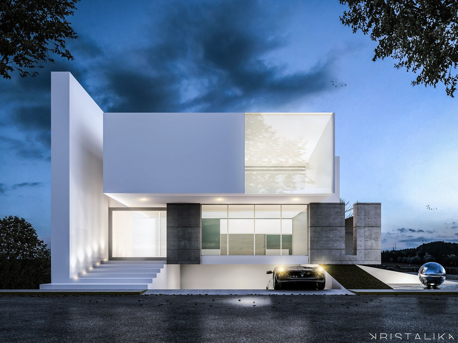Maybe Its Just A Matter Of Putting Up A Very Large Dividing Wall - A beautiful villa in ljubljana every minimalist will love