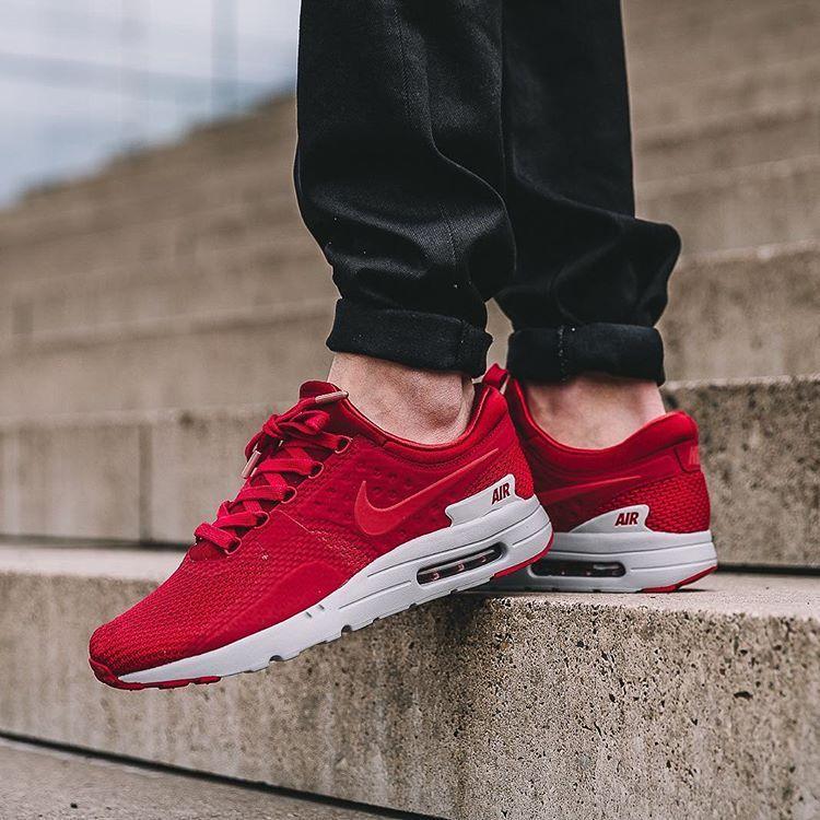 low priced 54e05 ae938 Nike Air Max Zero Premium: Red | sports apparel | Nike air ...