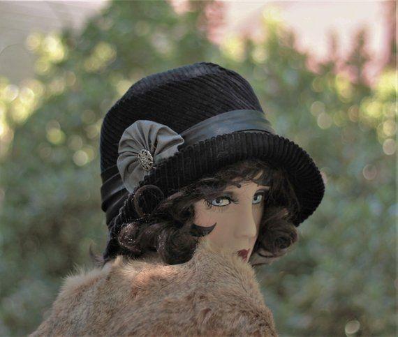 8eaef74a95b Womens Hat Vintage Style 1920s Cloche Flapper Formal Winter 20s Boho Downton  Abbey