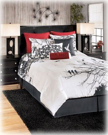 Red/Gray/White Queen Bedding Set - Signature Design by Ashley Furniture by Famous Brand Furniture, http://www.amazon.com/dp/B008FSZDYC/ref=cm_sw_r_pi_dp_Oogfsb0G03QFW