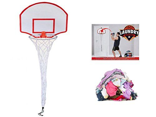 Luckduck Home Series NEW LAUNDRY BASKETBALL HOOP NET DOOR HANGING KIDS  BEDROOM NOVELTY GAME SLAM DUNK