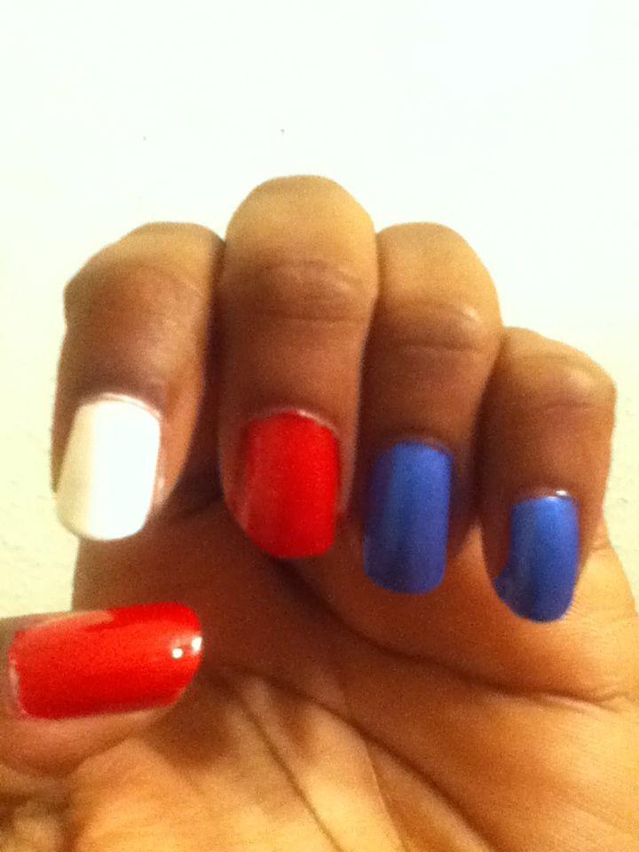 My 4th of July nails #nailart
