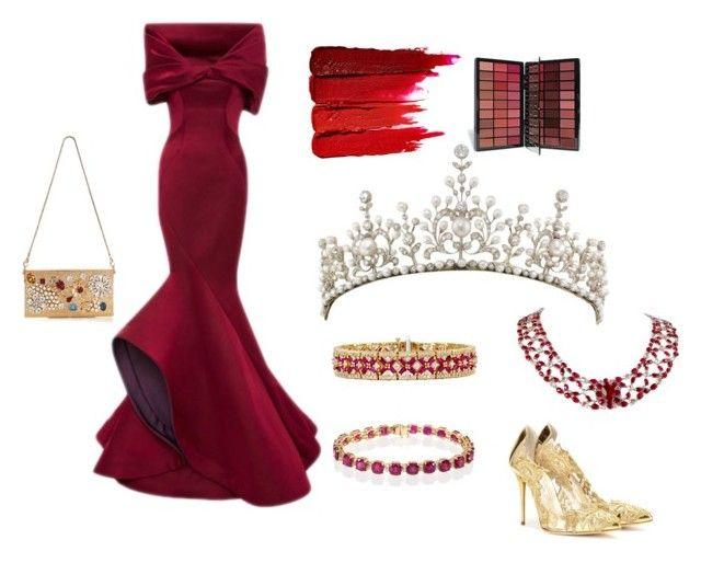 """Fit For a Princess 3"" by katyelange on Polyvore featuring Oscar de la Renta, Zac Posen, Dolce&Gabbana, Effy Jewelry, Serge Lutens, women's clothing, women, female, woman and misses"