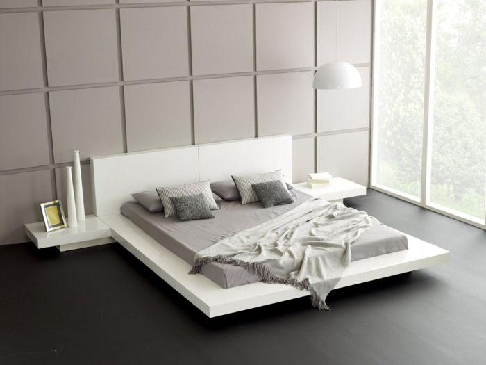 Schlafzimmer Wenge ~ Wohnideen schlafzimmer weißes bett dekovasen wandpaneele
