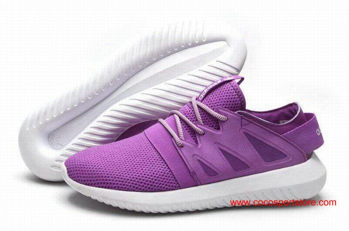2016 Adidas Tubular Viral Womens Shoes Purple White | Adidas