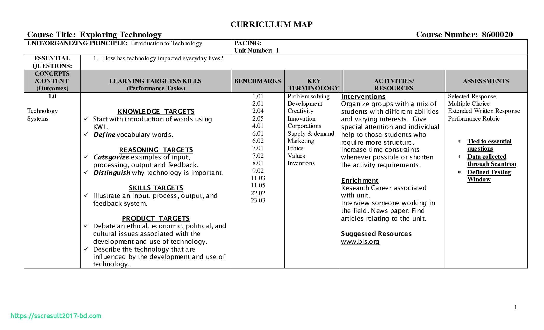 Music Curriculum Map Template Music Curriculum Map