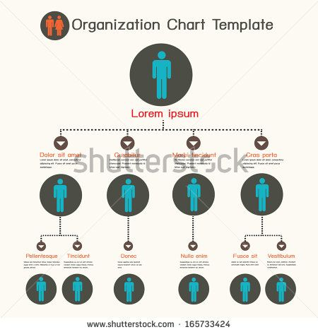 Organization chart template - stock vector Work Pinterest - organization chart