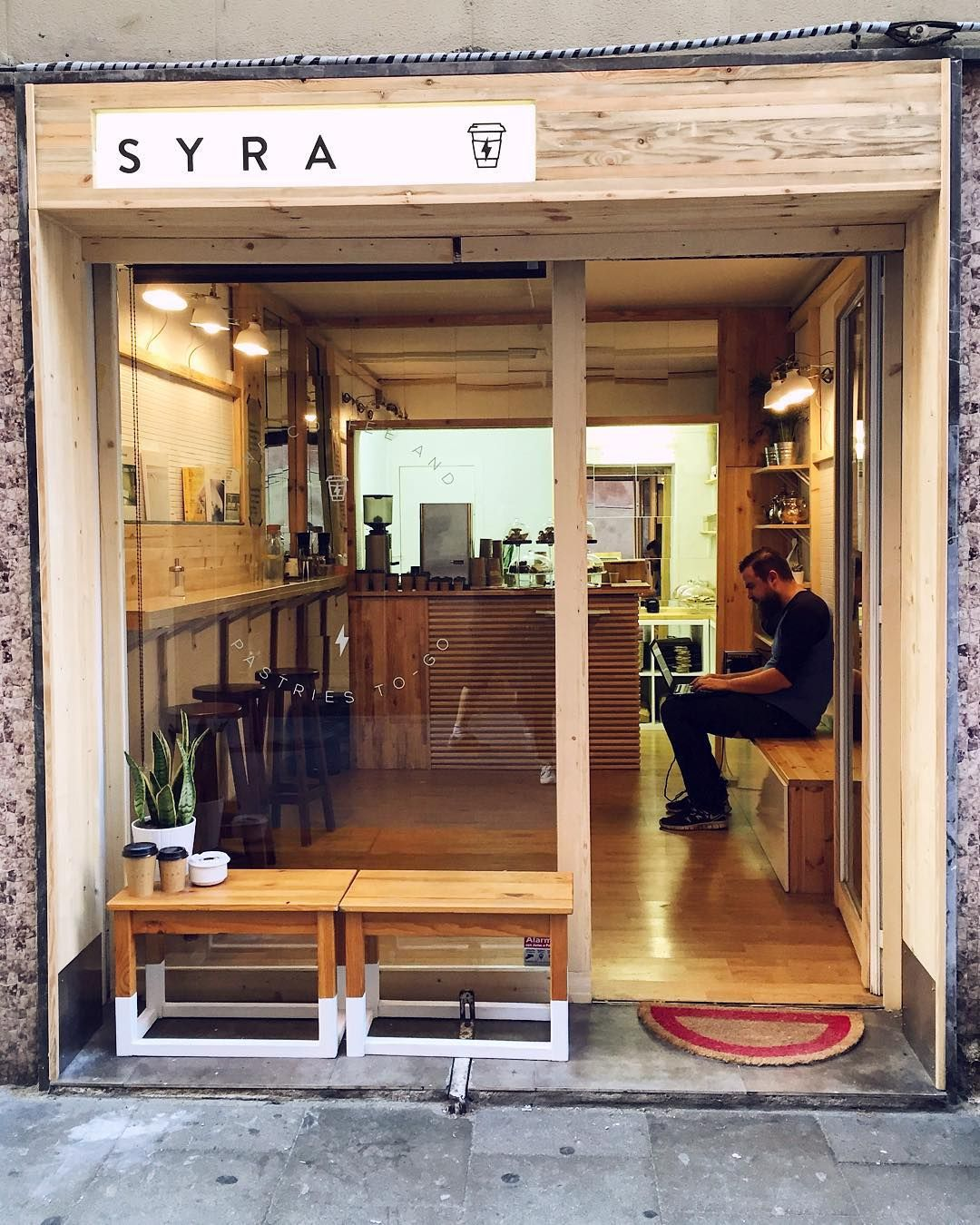 Syra coffee gracia barcelona pastry shop interior design also amor in pinterest rh