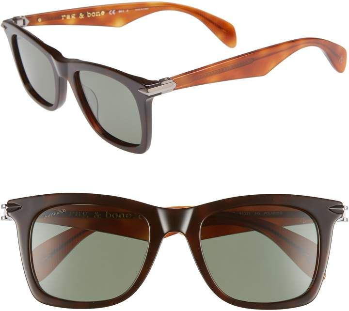 4d9f1b47b0 Rag   Bone Core 51mm Polarized Sunglasses