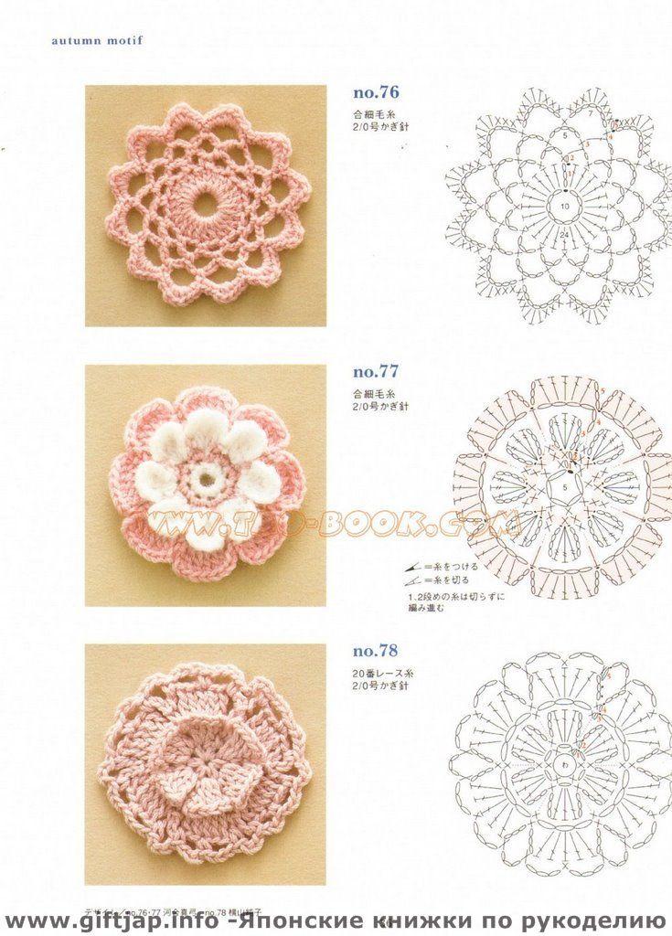 free patterns | Knit/Crochet | Pinterest | Tejido, Flores y Ganchillo