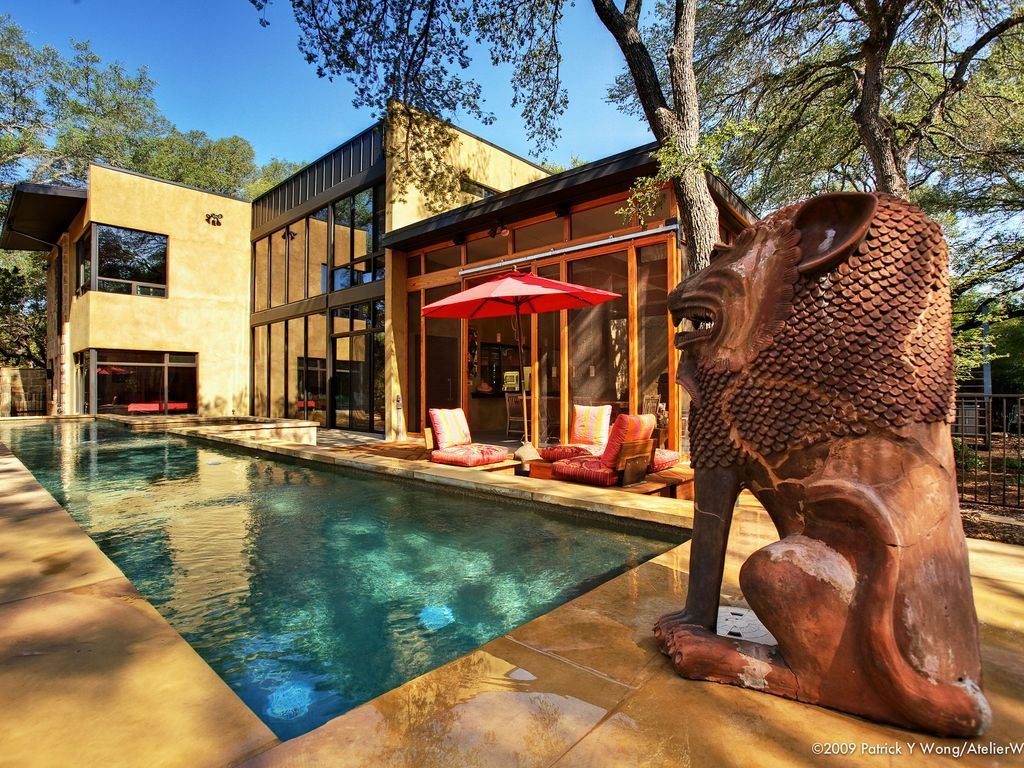 Bali Meets Austin In Artist's Spectacular, Private, Luxury