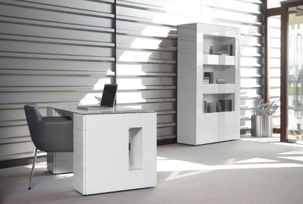 Bonvivo table bureau secrétaire massimo moderne verre bois