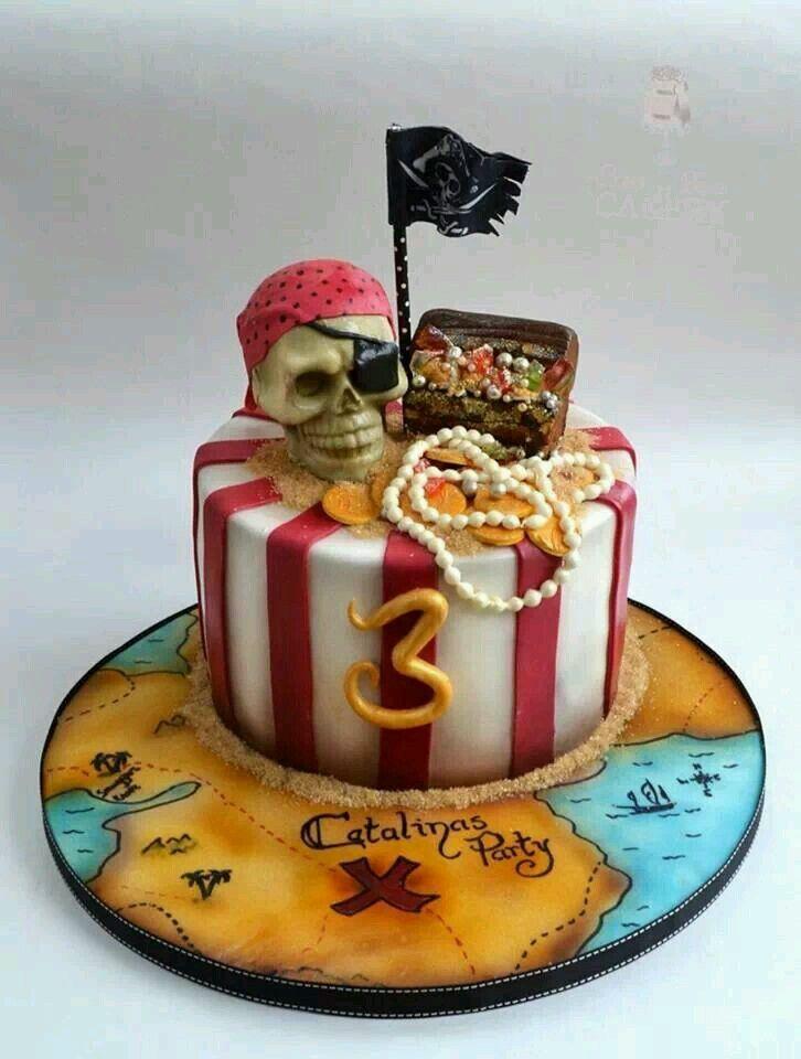 фото торта на пиратскую вечеринку заключении медиков