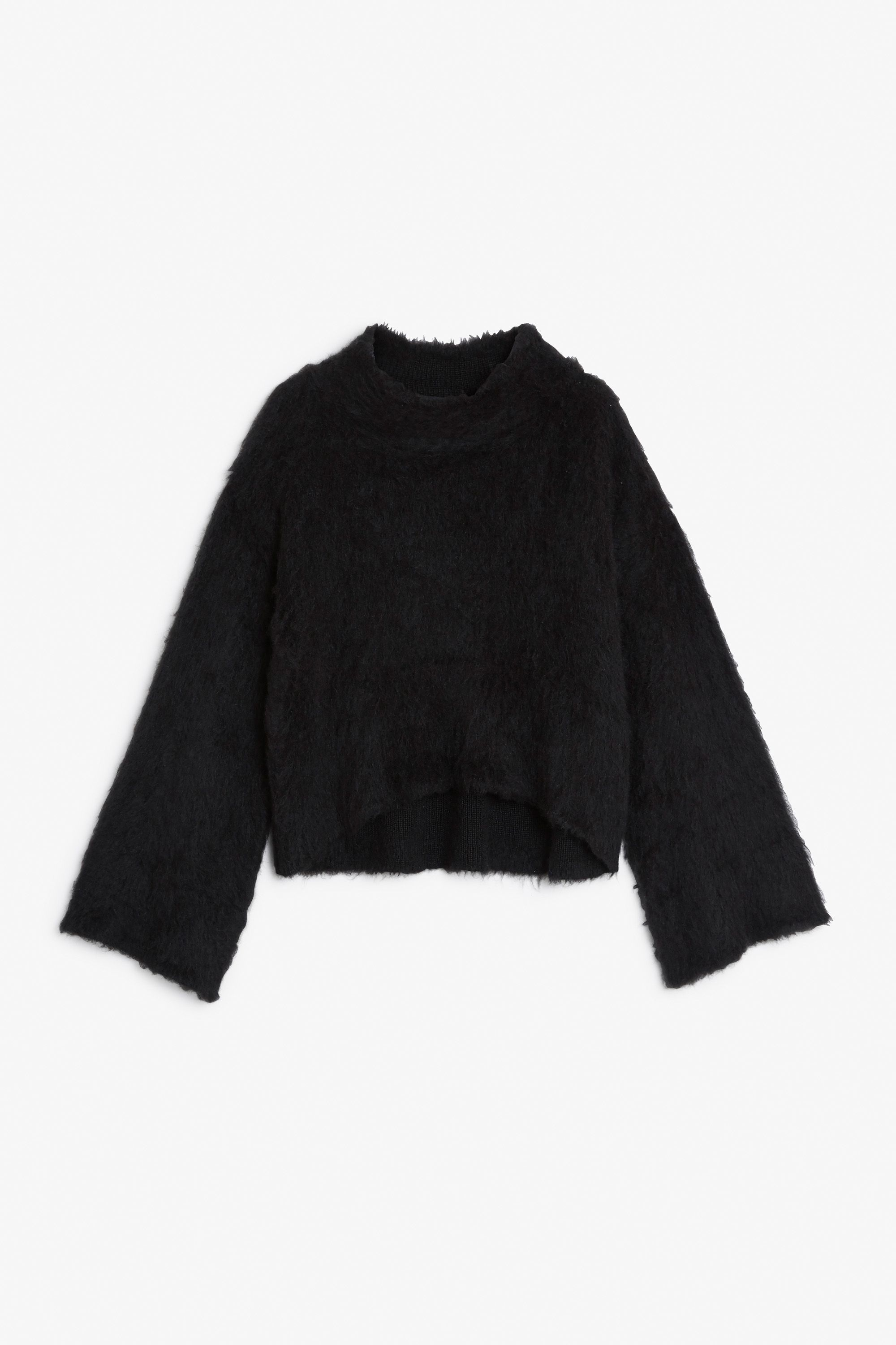 Monki Image 1 of Bell sleeve sweater in Black