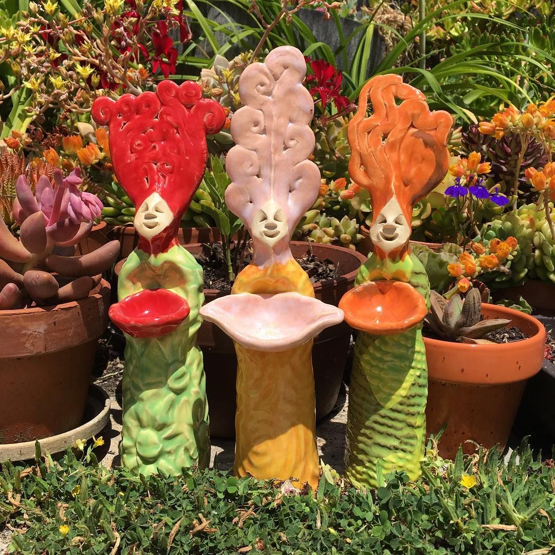 Three handmade goddesses out in the garden by Harry Leaf Designs ...