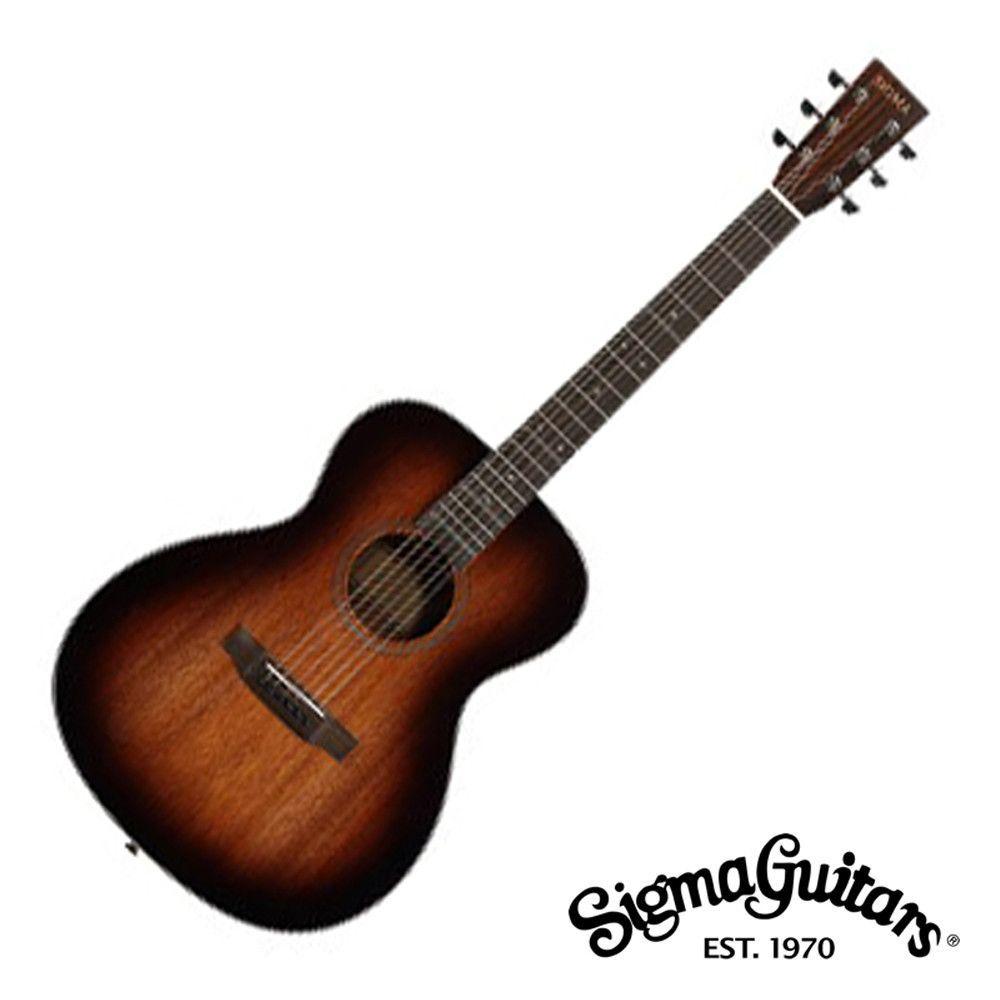 Sigma Sf15shb Folk Acoustic Guitar With Bag Guitar Acoustic Acoustic Guitar