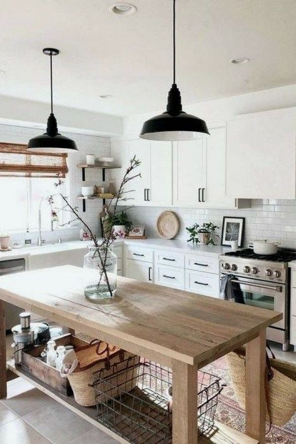 29  Awesome Modern Farmhouse Kitchen Decor Ideas - rDesignd.co