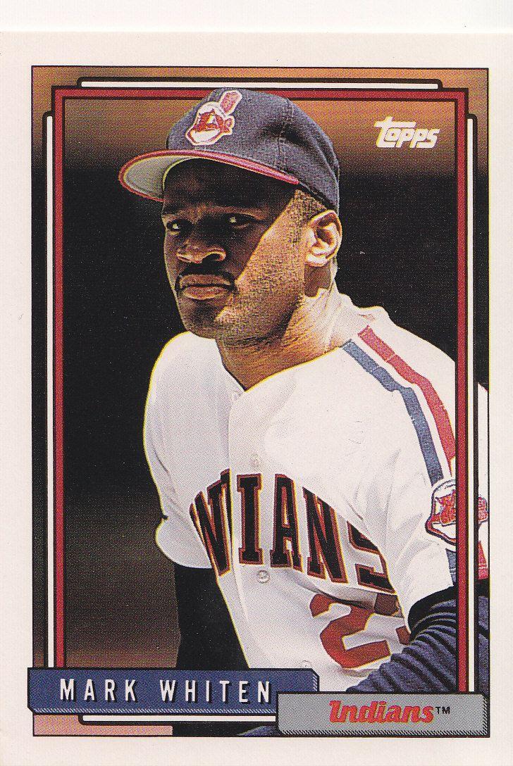 1992 Topps Baseball Card Of Mark Whiten Cleveland Indians Baseball Baseball Cards Cleveland Baseball