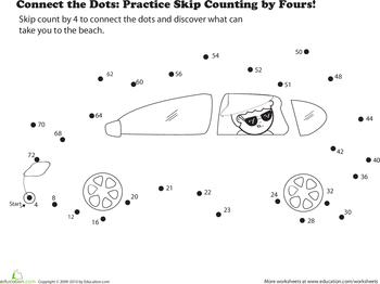 Kindergarten, Preschool Math Worksheets: Stars and planets connect ...