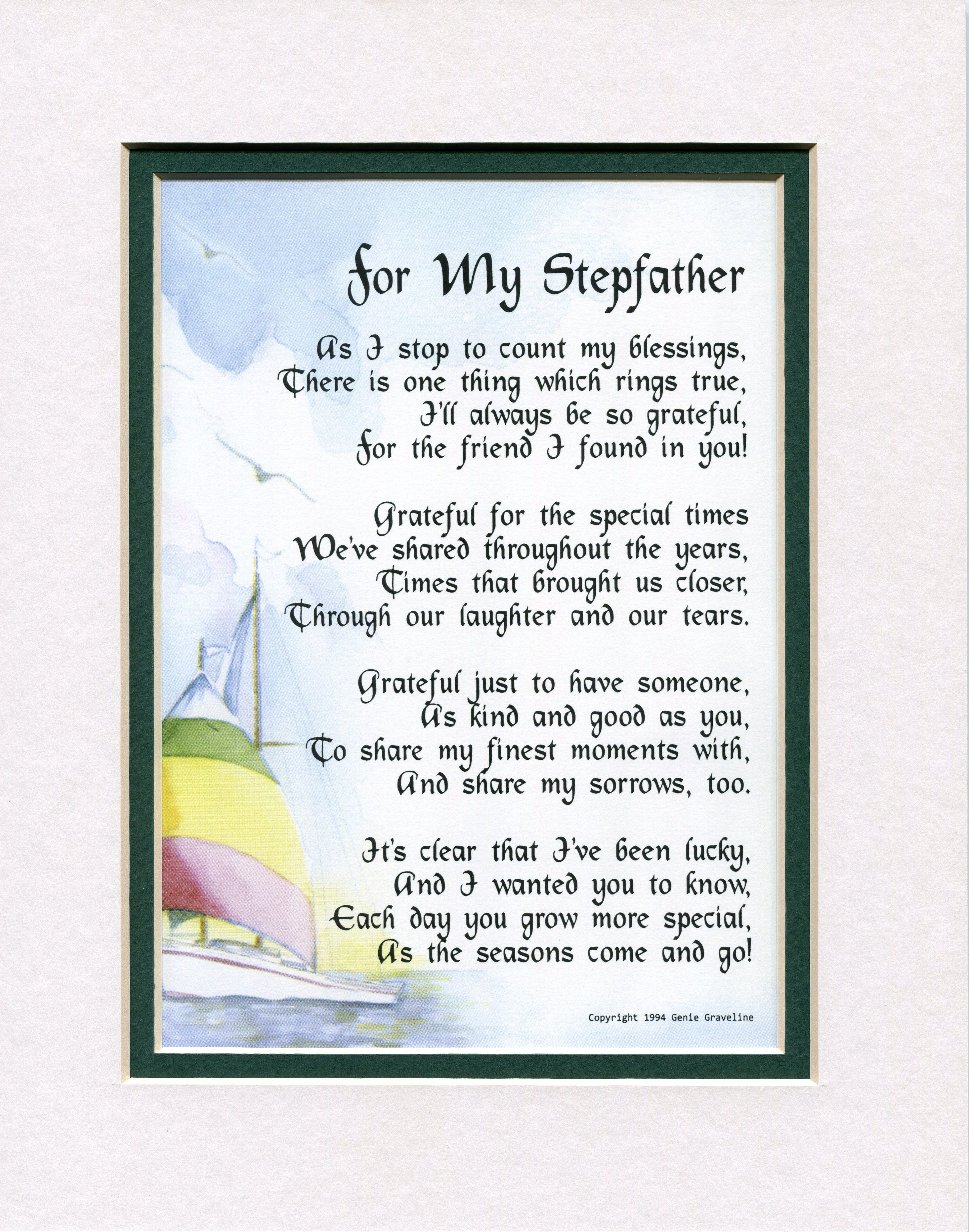 Wedding Gift For Step Dad : gifts fathers day poems meaningful gifts father s day gifts diy gifts ...
