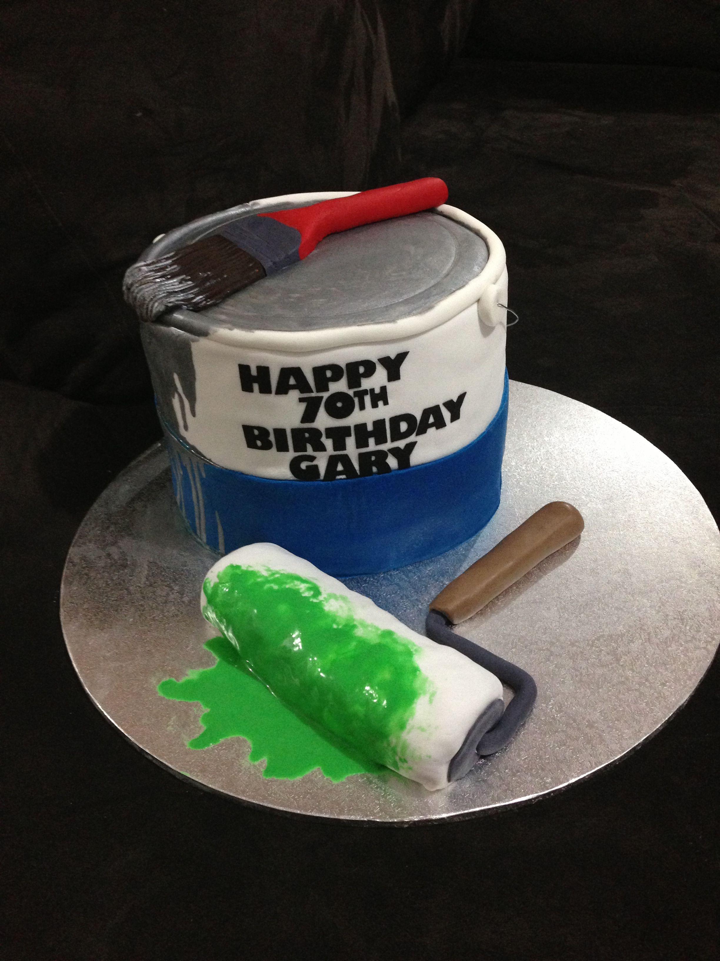 Paint Tin Cake Cake Design Cake Decorating Cake