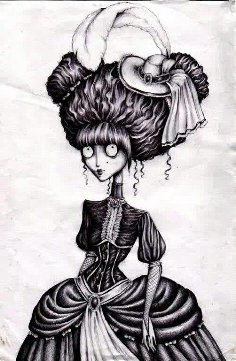 foto de Again my obsession with tim burton style drawings