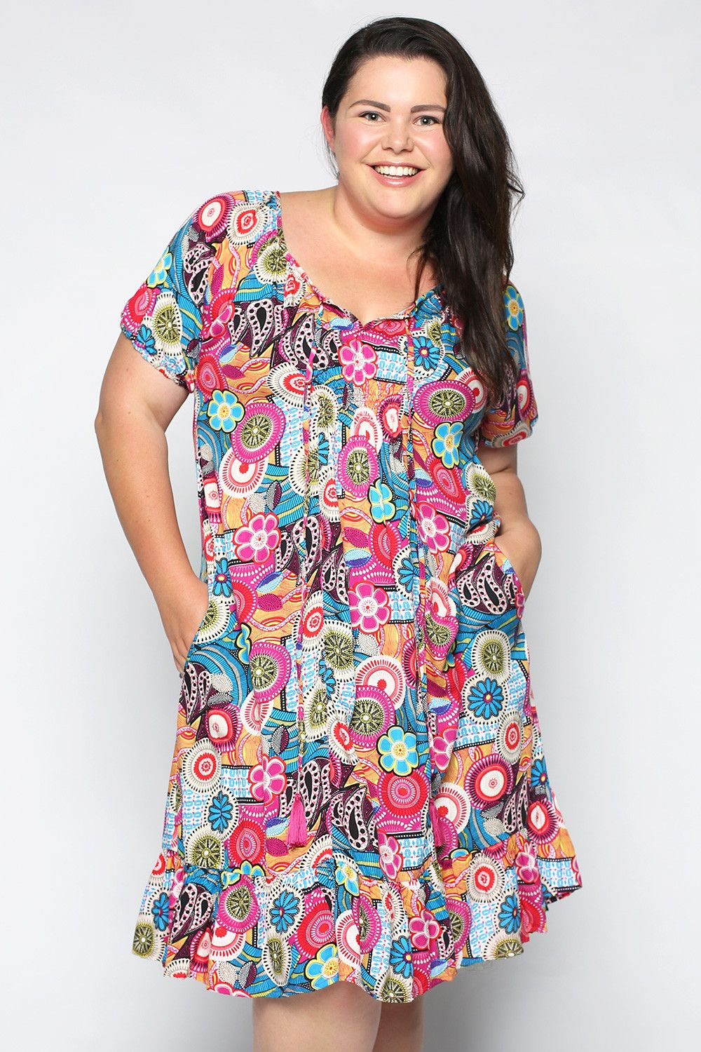2ab5d711544 Lucy Dress in Retro Pink (Plus Size) – Adrift Clothing