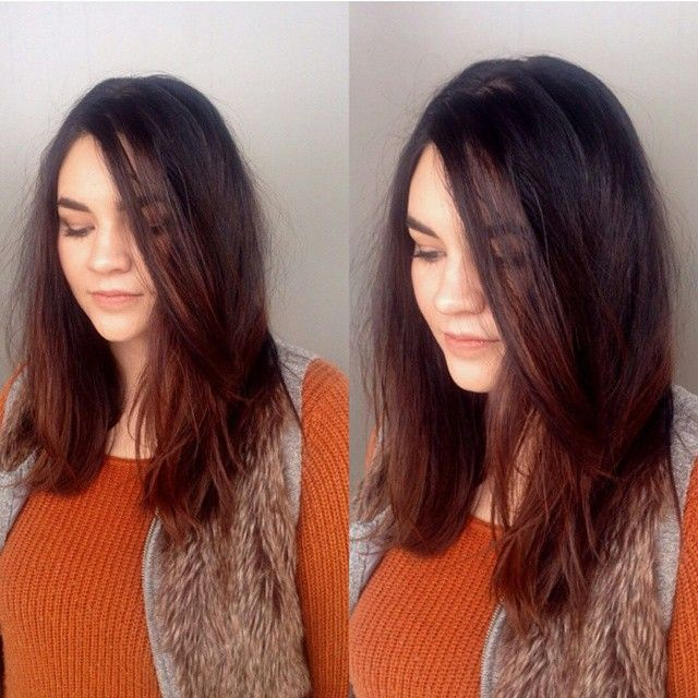 A lived in shattered cut by Kelcie.  used #loreal texture spray after the blow out, And sealed it in with with the cool shot on the blow dryer. Then used #loreal architexture pomade to give it the lived in look. (Color was done about two months ago)  #loreal #Tigicopyrightcolour #teambrunette #texture #livedin #shattered #freshcut #style #stylist #colorist #color #beauty #mediumlength #pomade #texturespray #beachie #utahhair #utahstylist