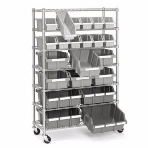 Industrial Shelving Unit Storage Rack Metal Shelf Bin Commercial ...