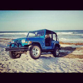 Jeep on the beach!
