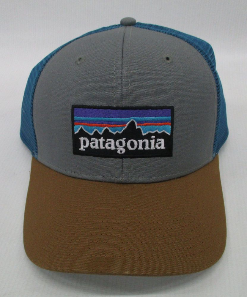 16a2f89483b Patagonia Mens P-6 Trucker Snapback Cap Hat 38017 Feather Grey Bear Brown   Patagonia  Hat