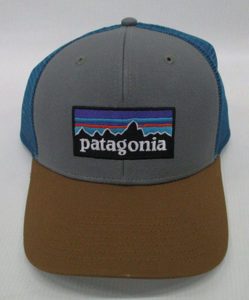 Patagonia P6 Logo Trucker Hat Forge Grey Cap Snap Back